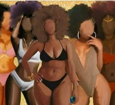 Black is beautiful - all shapes, shades and sizes Black Love Art, Black Girl Art, My Black Is Beautiful, Black Girl Magic, Black Girls, Art Girl, Beautiful Women, Beautiful Lips, Natural Hair Art