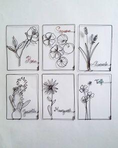 Un herbier-éphéméride jusqu'au weekend prochain... Happy new floral week ! Xxx #fildefer#textile #creation #wire #wiredesign #composition… Garden Crafts, Garden Art, Stylo 3d, 3d Pen, Textiles, Wire Crafts, Picture On Wood, Wire Art, Kids Decor