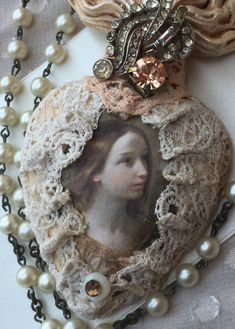 Lace covered Ex Voto by Ambassador Debby Anderson — Sandra Evertson