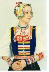 Folk costume from Važec, made by ÚĽUV in the 1990's