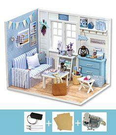 Cuteroom Dollhouse Miniature DIY Kit with Cover+Music Box...