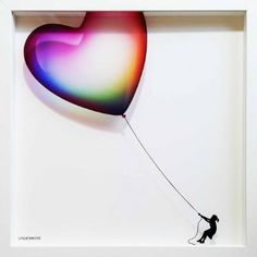 Balloon Heart on Glass - Edition of 10 Only