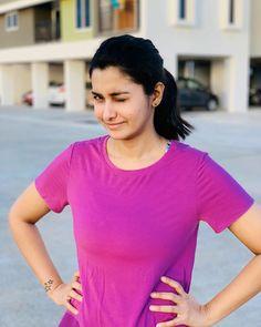 Priya Bhavani Shankar, Beautiful Actresses, Jogging, V Neck, India, Actors, T Shirt, Beauty, Women