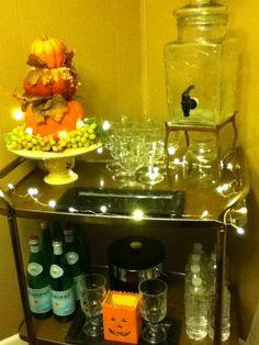 Beverage cart for Thanksgiving!