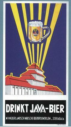 Gaya desain Art Deco dan Plakatstijl yang muncul pada iklan di Indonesia dengan bercirikan blok-blok warna.