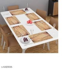 Table Cover Himanshi Set of 6 Dining Table Place Mats  Material: PVC Pack Of: Pack Of 6 Pattern: Printed Sizes:  Free Size (Length Size: 44 cm Width Size: 1 cm Height Size: 29 cm) Country of Origin: India Sizes Available: Free Size   Catalog Rating: ★4.2 (468)  Catalog Name: Fancy Table Cover CatalogID_1022896 C129-SC1637 Code: 802-6429696-993
