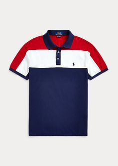 Buy Polo Ralph Lauren Short Sleeve Colour Block Polo Shirt, Cruise Navy/Multi from our Men's Polo Shirts & Rugby Shirts range at John Lewis & Partners. Camisa Polo, Polo Shirt Design, Polo Ralph Lauren Shorts, Ralph Lauren Style, Polo T Shirts, Mens Clothing Styles, Mens Sweatshirts, Pull, Custom Shirts