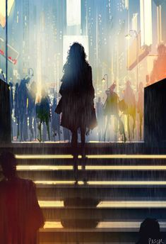 """""""If Life Was Made On Canvas"""": Heartwarming Illustrations By Pascal Campion Art Anime, Manga Art, Art And Illustration, Fantasy Kunst, Fantasy Art, Pascal Campion, Open Art, Anime Scenery, Art Girl"""