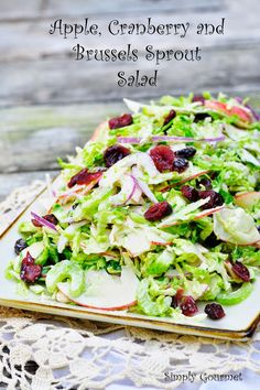 Simply Gourmet: Apple Cranberry and Brussels Sprout Salad