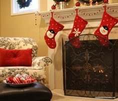 @Lacie Smith; you could do this to your mantle and have stockings for George and Boone : )