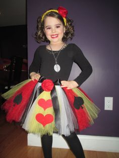 Queen of Hearts  Alice in Wonderland TuTu with Rose by MyKnitsEnd, $25.95