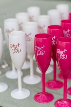 Unique bar ideas with cute champagne glasses