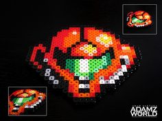 Metroid Head - Made with Perler Beads