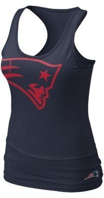 Nike Big Logo Tri-Blend NFL New England Patriots Women's Tank Top