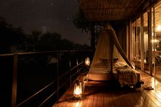 The suites include state-of-the-art amenities such as Bose sound systems and bean-to-cup coffee machines and floor-to-ceiling glass doors open onto expansive wooden decks, where daybeds provide the option to fall asleep under the stars. Kruger National Park, National Parks, Coffee Machines, Wooden Decks, Daybeds, Glass Doors, Stargazing, Bose, Lodges