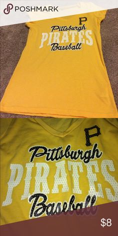 Pittsburgh pirates baseball v neck shirt Never worn' new with tags. Tops Tees - Short Sleeve