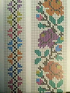 Cross Stitch Bookmarks, Cross Stitch Rose, Cross Stitch Borders, Cross Stitch Flowers, Cross Stitch Charts, Cross Stitch Designs, Cross Stitching, Cross Stitch Patterns, Embroidery Motifs