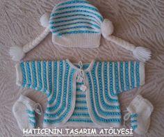 anlatımlı bebek örgüleri erkek bebek cepken hırka