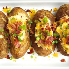 Loaded Baked Potatoes with Bacon and CheddarDelish
