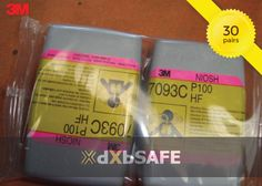 Hydrogen Fluoride Cartridge/Filter P100 (30PAIRS) = AED908.82 #safetyfirst #safety #ppe #care #health #work #life #time #people #dxbsafe #respiratory #promo