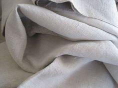 Superb Antique French Hemp Sheet Home Spun Hand Loomed Hand Sewn Centre Seam & Hems 2.670kgs www.fatiguedfrenchfinds.com Bed Linen, Linen Bedding, French Bed, Selling Antiques, Hand Sewn, French Antiques, Hemp, Spinning, Loom