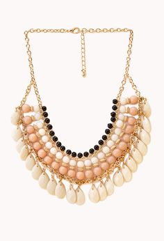 Worldly Beaded Bib Necklace | FOREVER21 Make a statement #WishPinWin #ForeverHoliday #Accessories