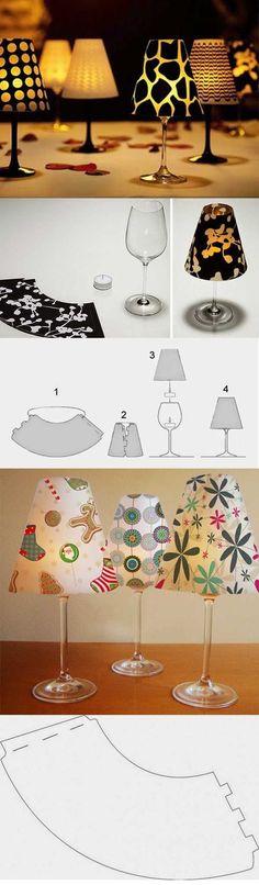 Mini candle lamp DIY - cool home decor idea