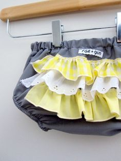 Mellow Yellow - Ruffle diaper covers - Baby -  Girl - Bloomers - Bottoms - Raegun via Etsy