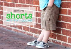 Boy shorts made from cut off pants