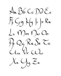 Calligraphie : un mélange d'unicial et d'hébreu