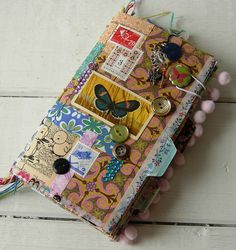 Decoupaged Tag Journal by Jennibellie, via Flickr