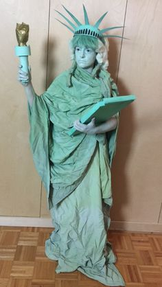 Living Statue, Statues, Statue Of Liberty, Costumes, Design, Art, Statue Of Liberty Facts, Art Background, Dress Up Clothes