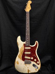 Fender Custom Shop MBS 1961 Stratocaster Heavy Relic White Blonde by Jason Smith 2009 Fender Acoustic Electric Guitar, Fender Guitars, Electric Guitars, Fender Stratocaster White, Music Down, Cheap Guitars, Fender Custom Shop, White Blonde, Guitar Pedals