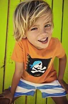 Mini Boden 'Pirate' T-Shirt (Toddler, Little Boys  Big Boys)   Nordstrom love this little boys haircut too.   best stuff