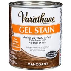 Varathane Hickory Wood Interior Gel Stain - 339587 - The Home Depot For the front door & shutters Diy Garage Door, Garage Door Makeover, Garage Ideas, Varathane Stain, Oil Based Stain, Hickory Wood, Composite Door, Wood Interiors, Wide Plank