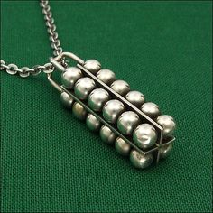 ⭐️Make a Bid! - Modernist silver spheres heavy vintage pendant. Made in #Finland, 1966. #auction