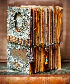 gorgeous art journal. love the chain closure.