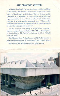 Grand Lodge of New South Wales and Australian Capital Territory, Sydney, Australia, 1979.