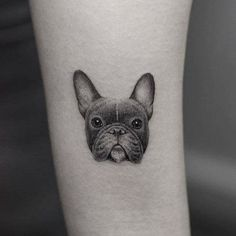 Top French Bulldog Tattoos of All-Time Dog Tattoos, Body Art Tattoos, I Tattoo, Tatoos, Henna Tattoos, Tattoo Bulldog, French Bulldog Tattoo, Puppy Tattoo, Puppy Gifts
