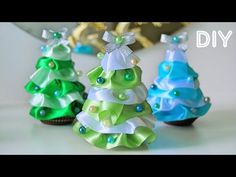 ШИШКА НоВоГоДнЯя ИЗ ЛЕНТ / DIY: Christmas Pine Cone with Ribbons ✿ NataliDoma - YouTube Diy Christmas Balls, Christmas Bows, Christmas Crafts For Kids, Xmas Crafts, Simple Christmas, Christmas Projects, Christmas Gifts, Christmas Decorations, Christmas Ornaments