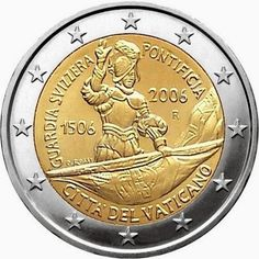 2 euro Vatican City Anniversary of the Swiss Guard - currency Piece Euro, Timbre Collection, Swiss Guard, Euro Coins, Legal Tender, Commemorative Coins, Money Affirmations, World Coins, Vatican City