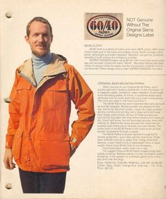 Bob Woodward on Retail's Heady Heydays of Sierra Designs Military Chic, Rugged Style, Orange Is The New Black, Vintage Wear, Canada Goose Jackets, Parka, Winter Jackets, My Style, Catalog