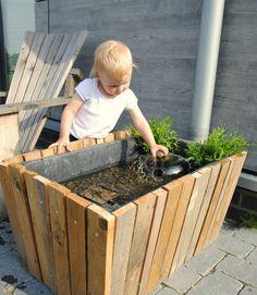 Gartenteich selbst gemacht, upcycling, recycling, Miniteich, Gartenideen