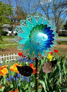 Image result for How to make glass garden stakes