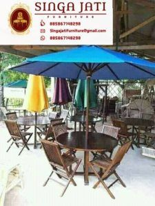 Kursi-Lipat-Meja-Payung-Kayu-Jati Online Furniture, Patio, Interior, Outdoor Decor, Home Decor, Terrace, Indoor, Interiors, Interior Design