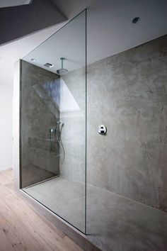 As Tadelakt is water repellent there's absolutely no demand for tiling etc. Tadelakt is incredibly versatile and may be used in a lot of means. Tadelakt not on. Concrete Shower, Concrete Bathroom, Diy Bathroom, Bathroom Toilets, Bathroom Renos, Bathroom Interior, Modern Bathroom, Small Bathroom, Bathroom Ideas