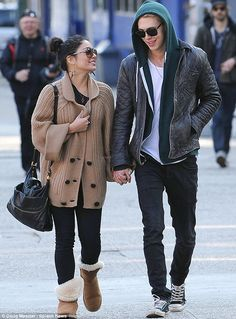 Spring break: Vanessa Hudgens and Austin Butler spent quality time together in New York today