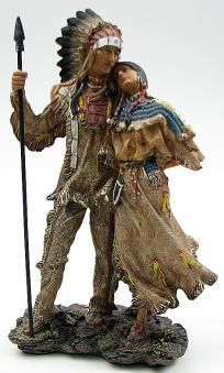 "13.25"" Tall Indian Couple Figurine Resin Statue"