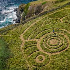 @tony_plant getting #creative on a #stunning #clifftop #field in #Cornwall. #aerialfilming #droneoftheday  #drone #film  #dslr #photography  #photooftheday #dji #djiinspire1 #inspire1 #cropcircles #rake #art by cinehawk