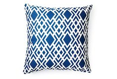 Geometric 20x20 Outdoor Pillow, Blue on OneKingsLane.com